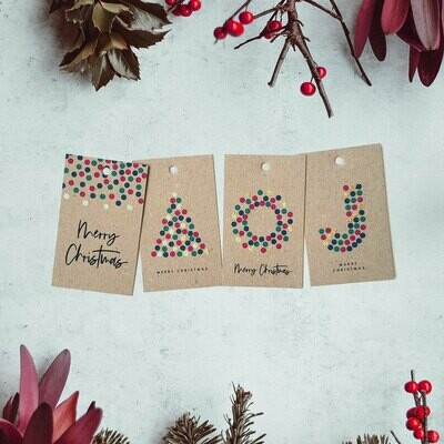8 pk Gold touch - Christmas Gift Tag