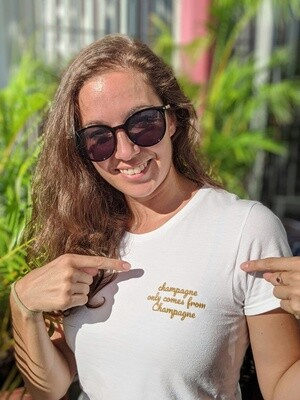 champagne only comes from Champagne Women's tee