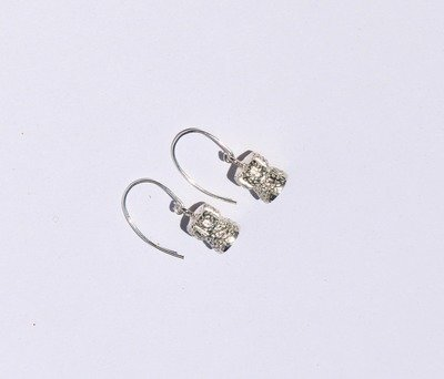 Champagne Cork Silver Earrings