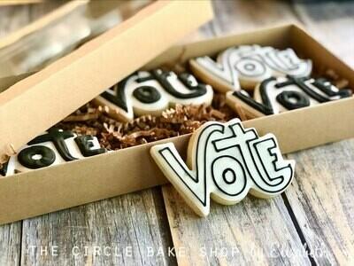 VOTE White with Silver Stars