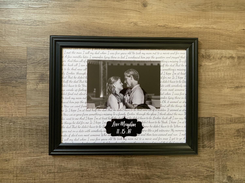 Wedding/Anniversary Song Print