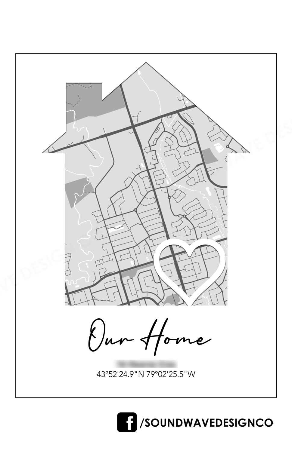 """Our Home"" Map Art"