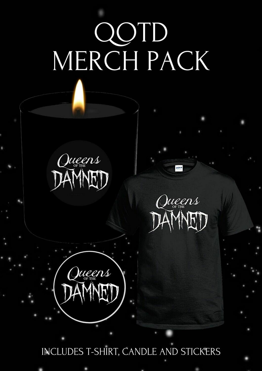 QUEENS OF THE DAMNED OFFICIAL MERCH PACK