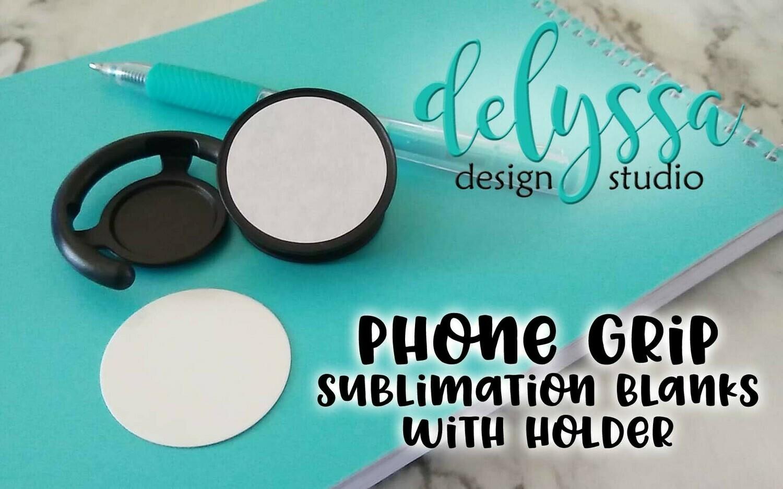20 Pack: SUBLIMATION BLANKS Phone Grips/Pops Blanks, Black/White