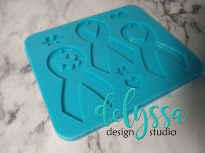 Ribbons of Hope Silicone Mold