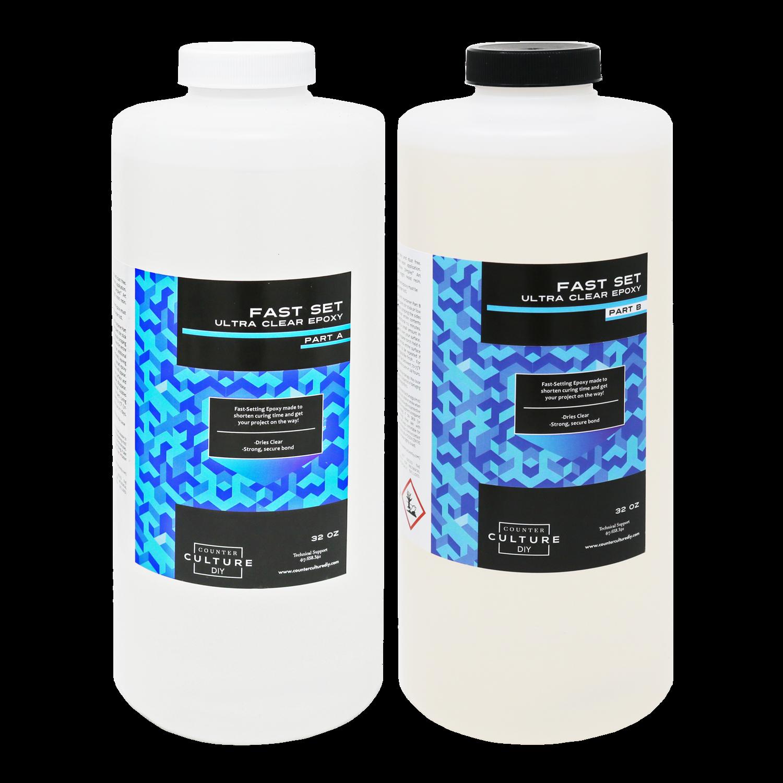 Fast Set Ultra Clear Epoxy 1/2 Gallon Kit