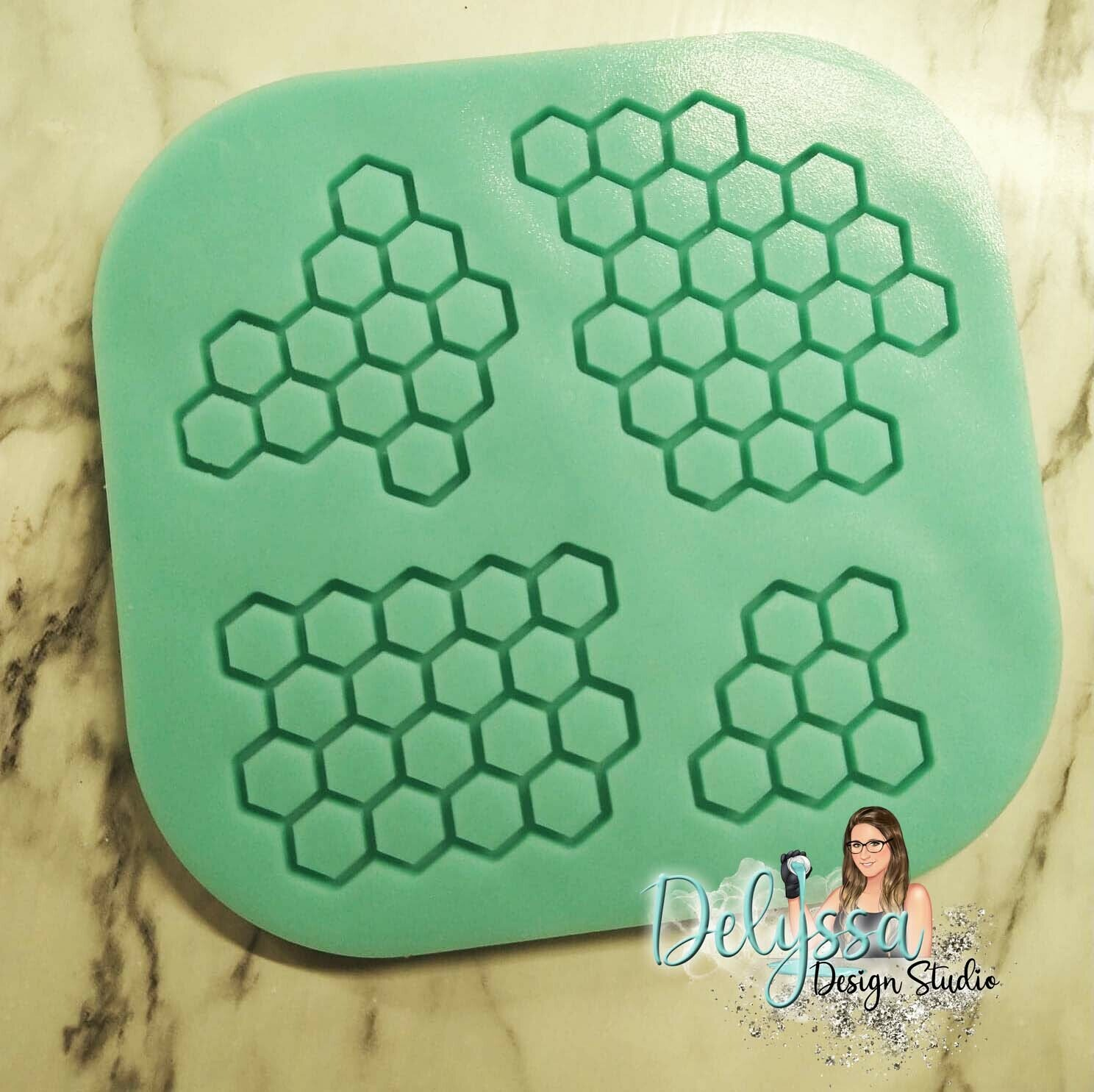 Honeycomb Pieces  for Honeypot Tumbler Silicone Mold