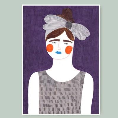 VIOLET GIRL print
