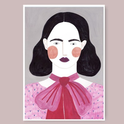 DARK HAIR GIRL print