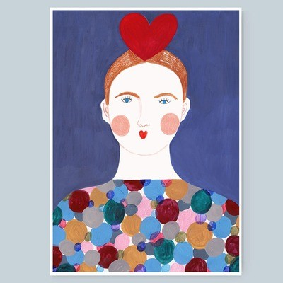 HEART GIRL print