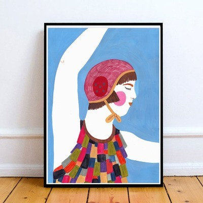 WATER GIRL print