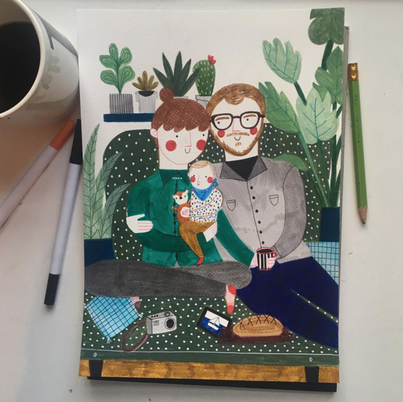 FAMILY PORTRAIT personalized drawing