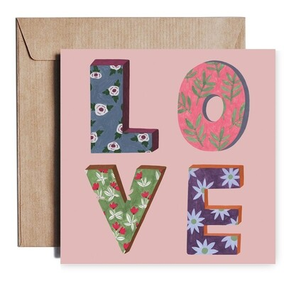 LOVE lettering card