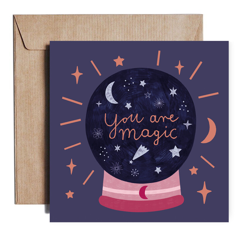 ROSE GOLD FOIL MAGIC card