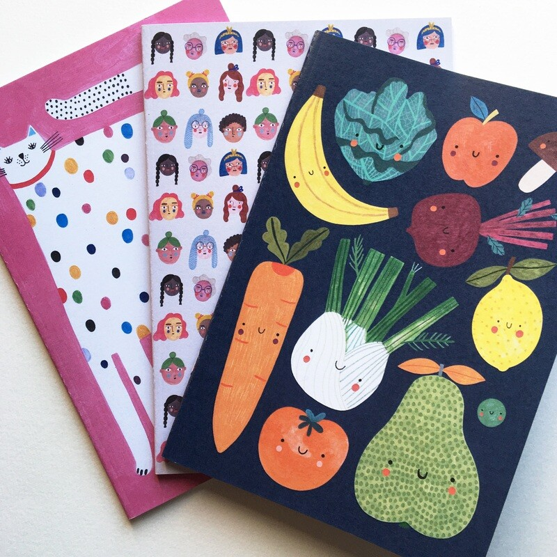 STET OF 3 notebooks A5