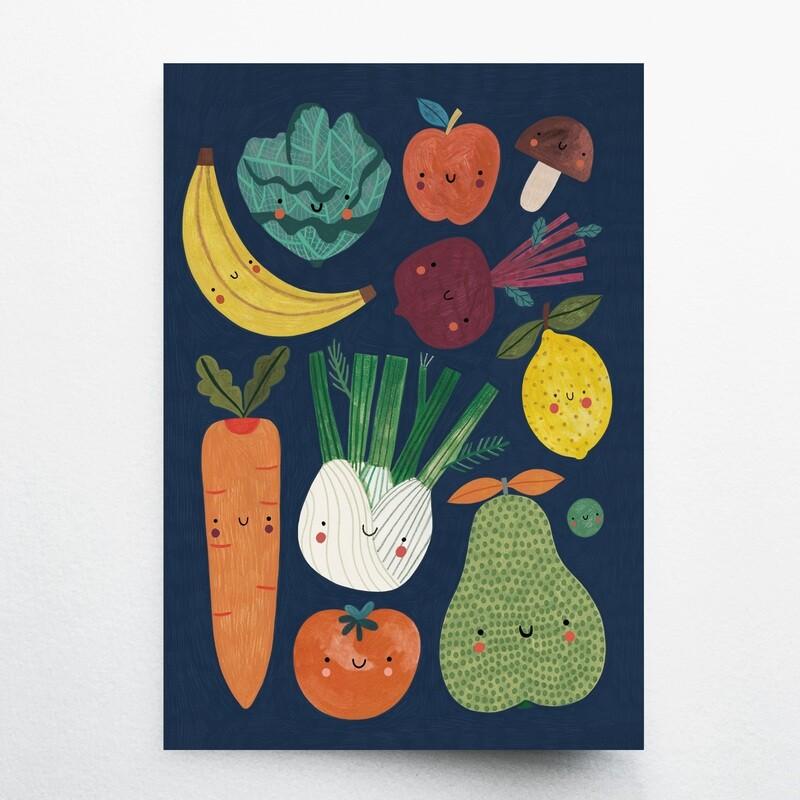 FRUITS&VEGGIES  notebook A5