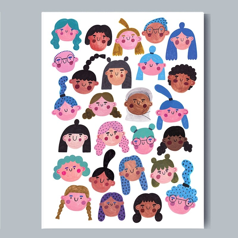 ALL THE GIRLS print