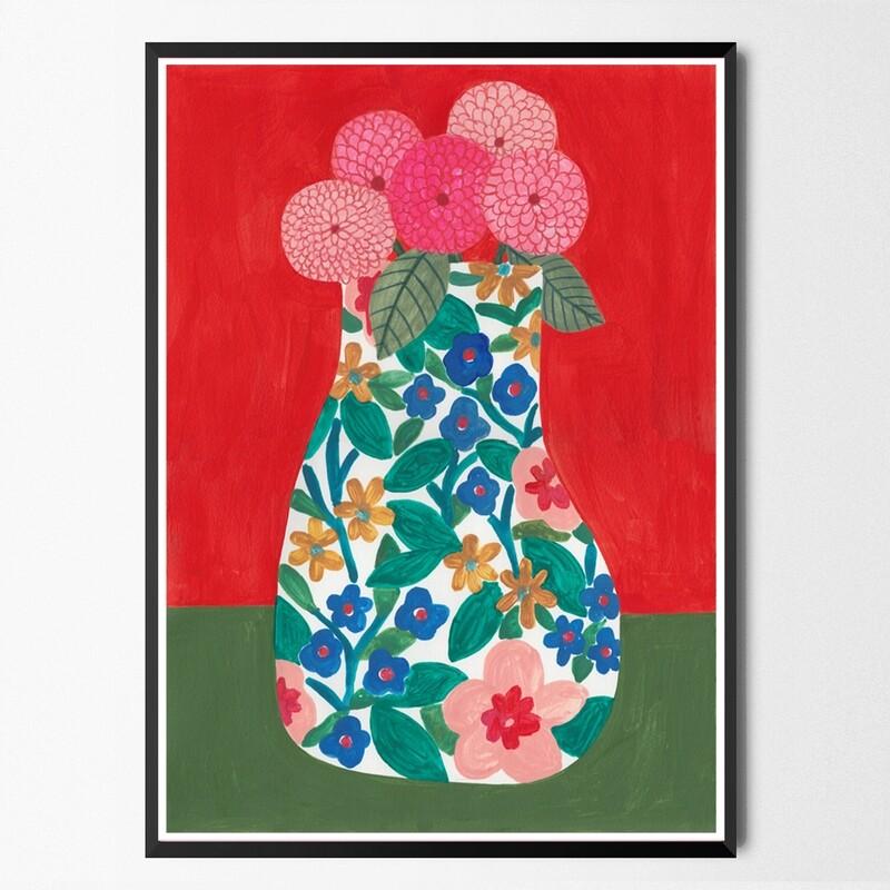 FLOWERS 1 original painting A3