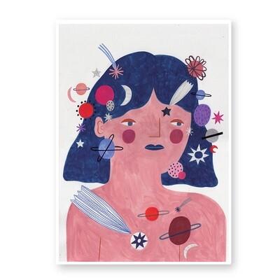 COSMIC GIRL print