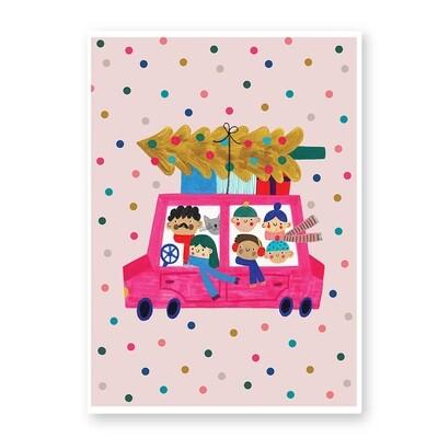 CHRISTMAS CAR print