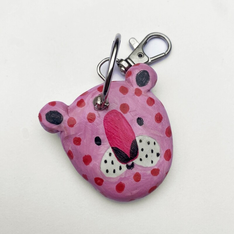 POOR THING pink tiger key chain