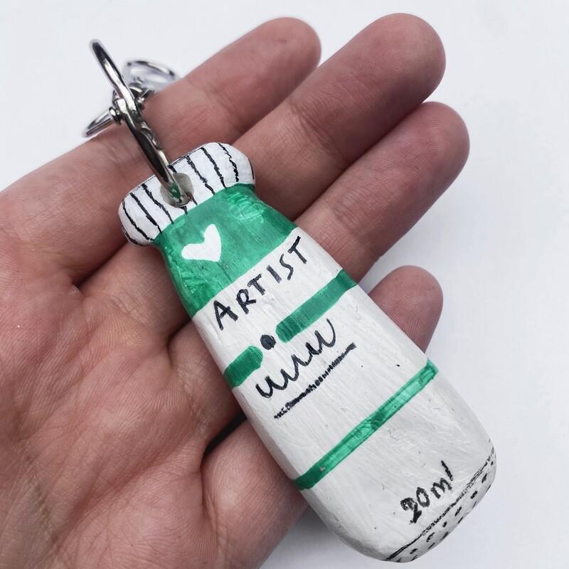 POOR THING gouache key chain