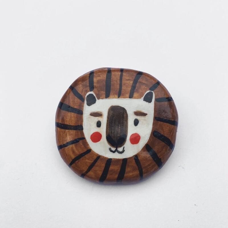 POOR THING  lion pin