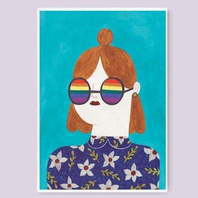 RAINBOW GIRL print