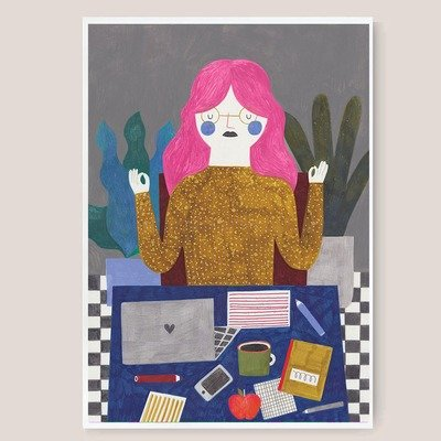 WORKING GIRL print