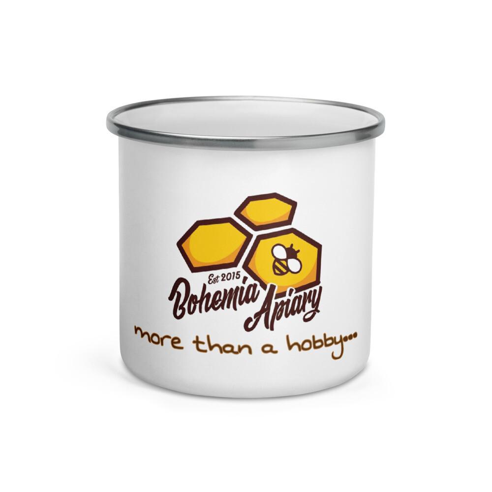 """Bohemia Bee """"More Than a Hobby"""" Enamel Mug"""