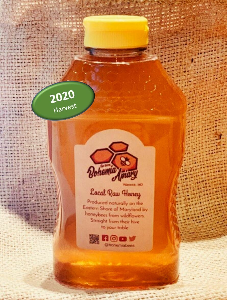 Raw Wildflower Honey 2lb (2020 Warwick MD)