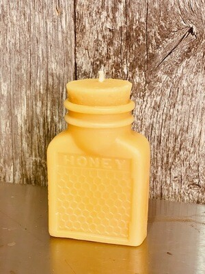 Small Honey Jar beeswax candle
