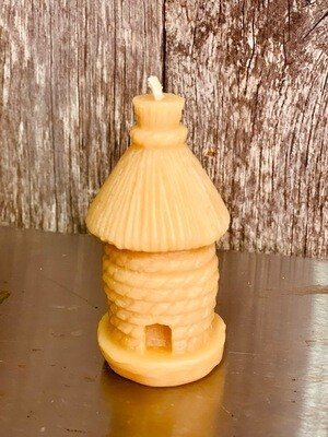 Old Style Bee Skep beeswax candle