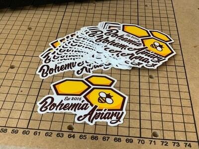 Bohemia Apiary vinyl logo sticker