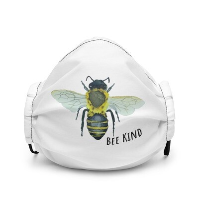 """""""Bee Kind"""" Bohemia Bee watercolor collection Premium face mask"""