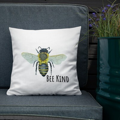 """""""Bee Kind"""" Bohemia Bee watercolor collection Premium Pillow"""