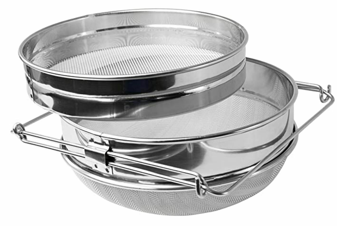 "9"" Stainless Steel Honey Strainer Double Sieve"
