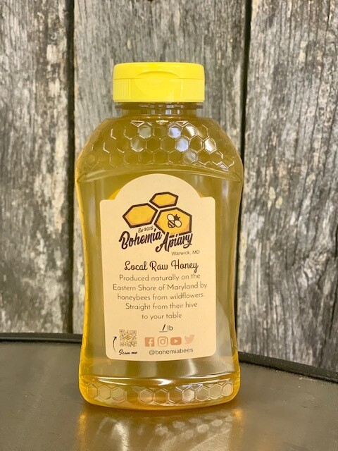 Raw Wildflower Honey 1lb (2021 Warwick MD)