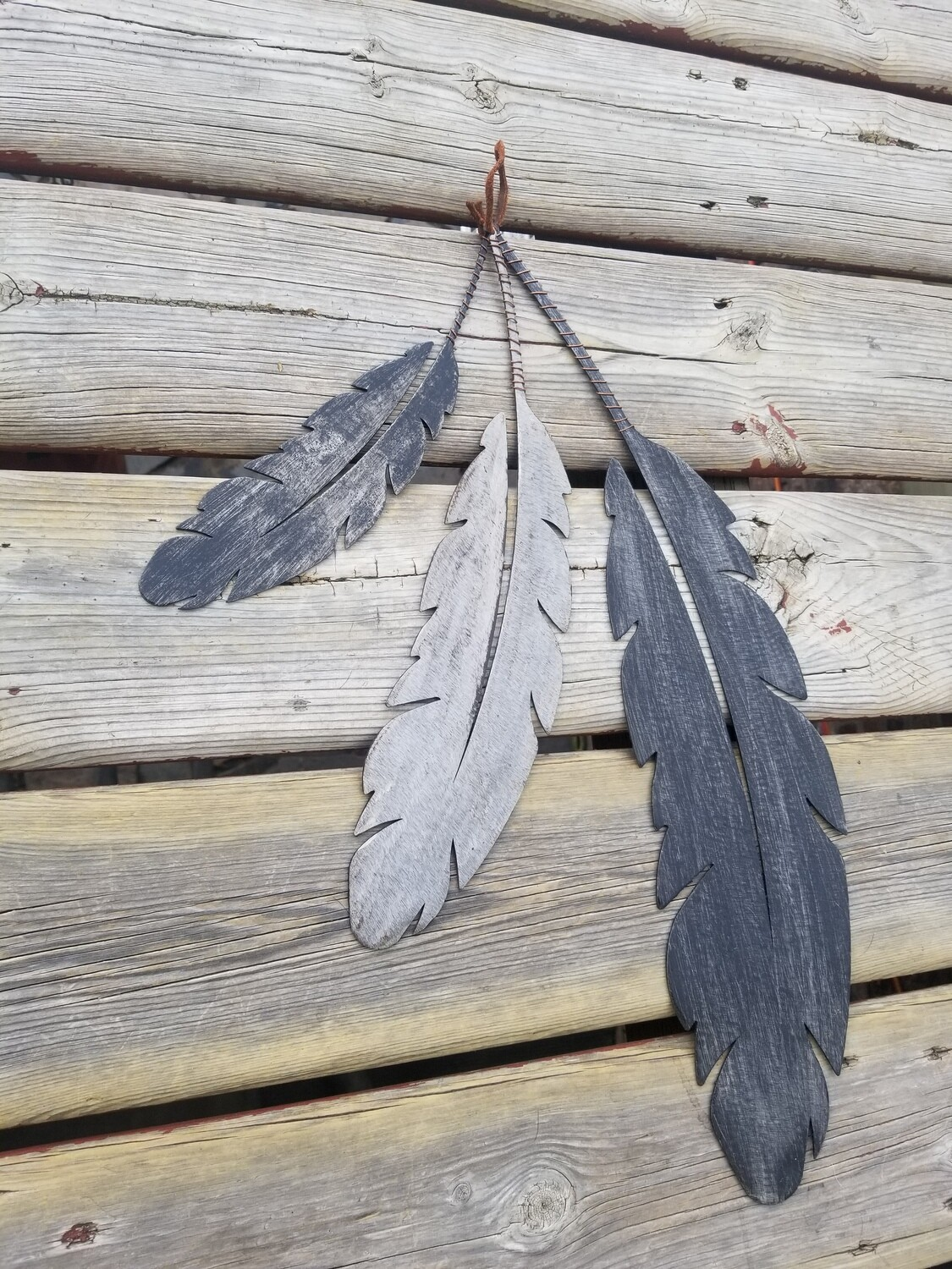 Feathers 1 | Feather Wall Hanging | Scrap Metal Art | Metal Wall Art