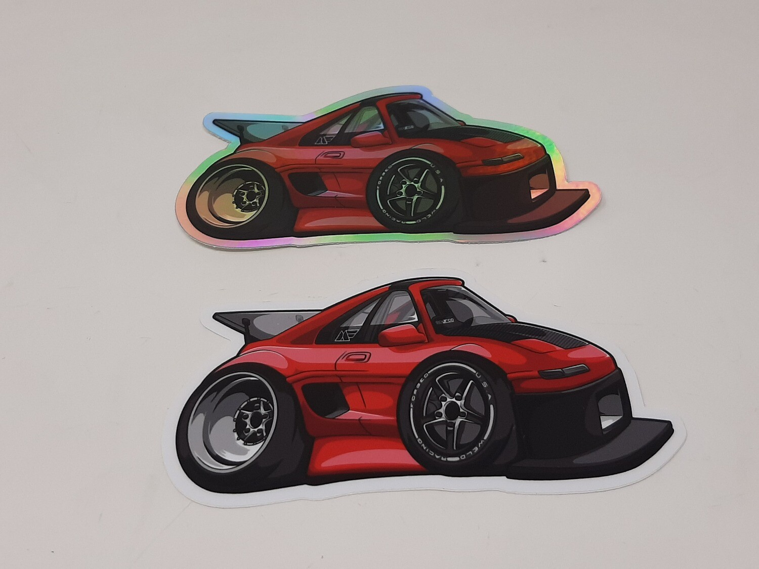 Car-Tooned MR2 Hux Racing Sticker