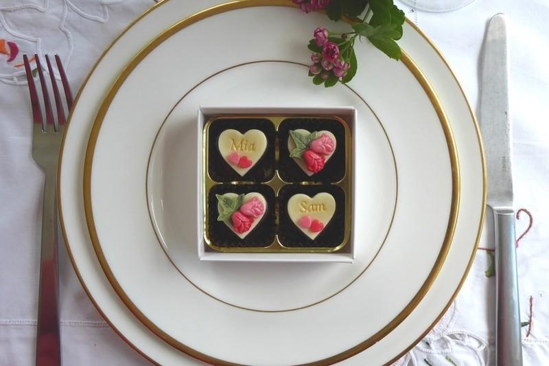 Rosebuds - box of four wedding favours