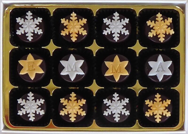 Classic Snowflakes - marzipan chocolates