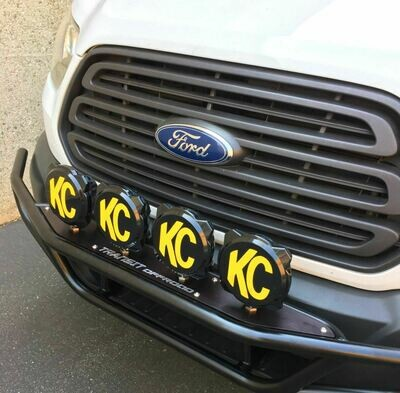 Ford Transit Tubular Front Full Bumper with Universal Light Mount