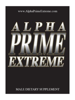 Alpha Prime Extreme- All Natural Male Enhancement Supplement  – Three Pack