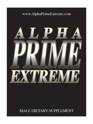 Alpha Prime Extreme- All Natural Male Enhancement Supplement  – Twenty Pack