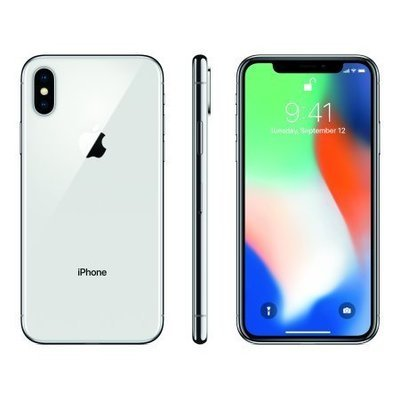 Apple iPhone X 64GB, Silver Unlocked Pre-pay Cellular