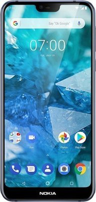 Nokia - 7.1 with 64GB Memory Cell Phone (Unlocked) - Blue