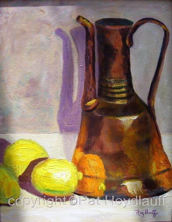 Copper Pot with Lemons CNV142 / 14x18
