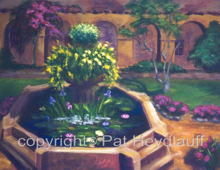 Courtyard Fountain CNV121 / 18x14