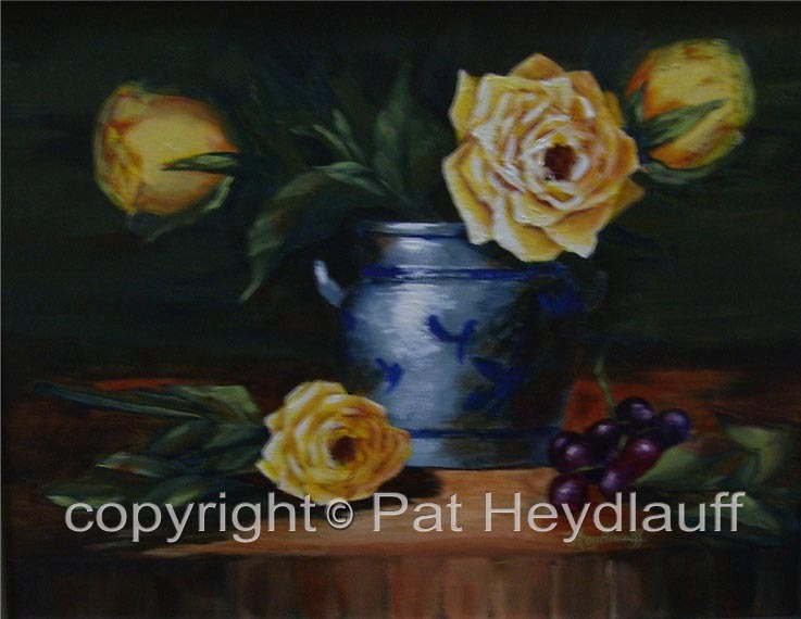 Yellow Roses and Grapes CNV163 / 16x12